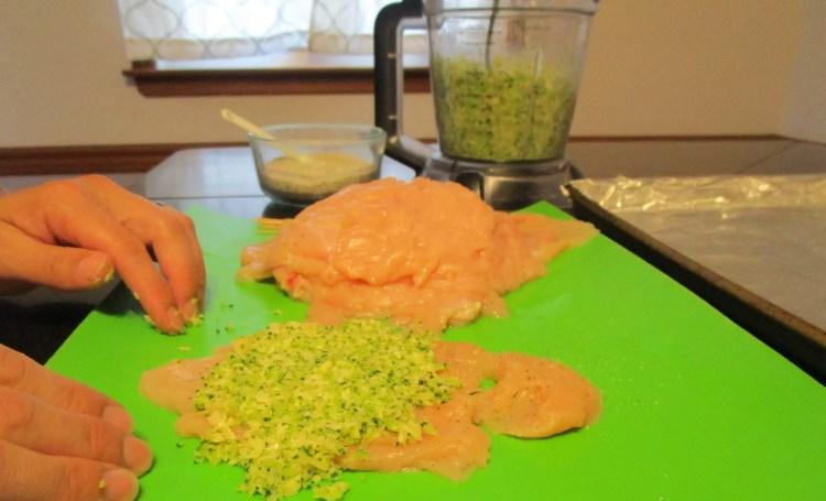 flatten filling broccoli cheese chicken