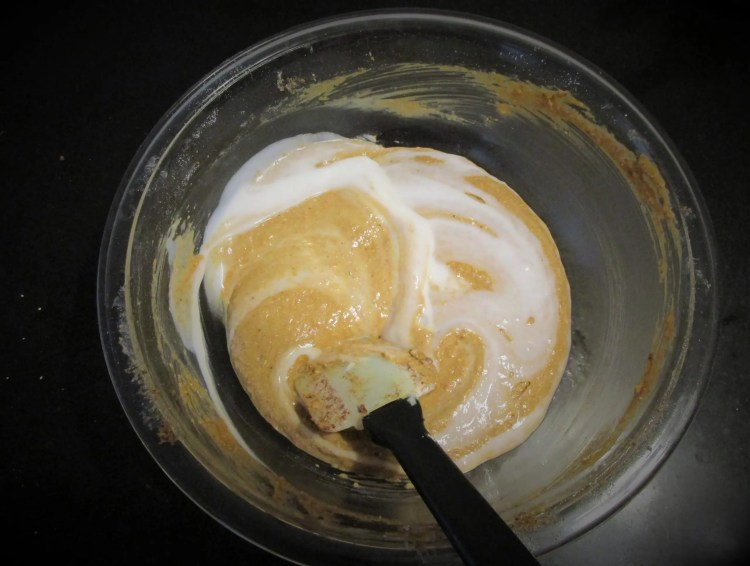 fold yogurt in batter yogurt pound cake