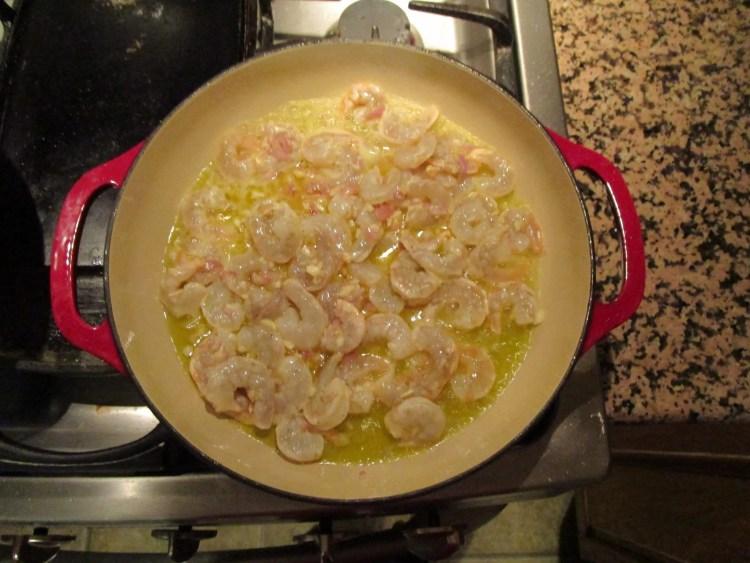 cooking garlic shrimp