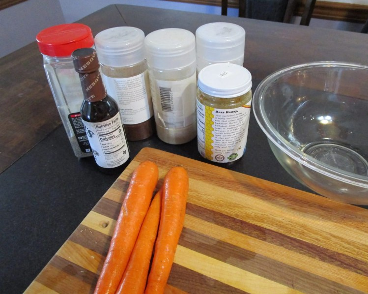 all the ingredients for carrot bacon