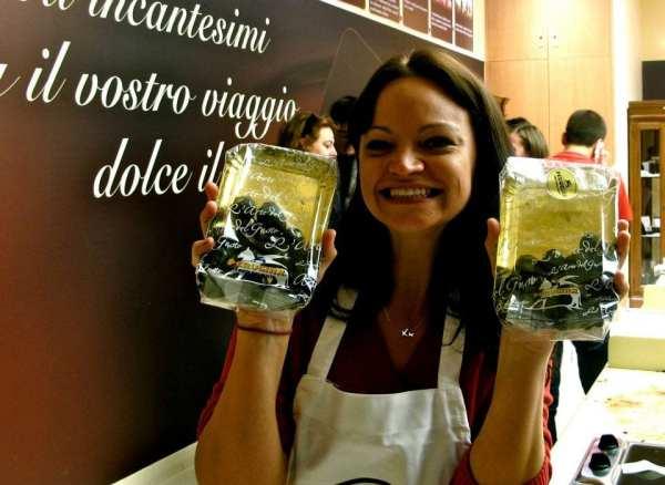 Angie Away at Perugina Chocolate School
