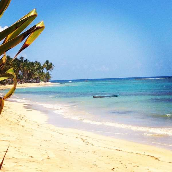 The beach at Las Terrenas