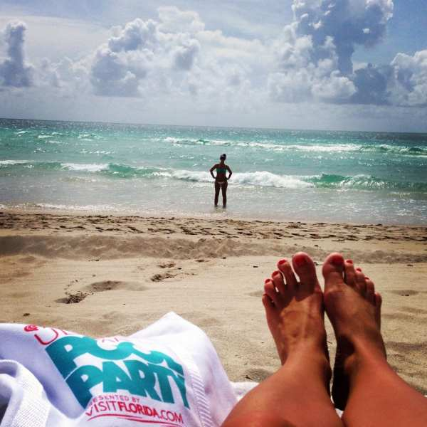 The best way to end a weekend in Miami - on the beach!