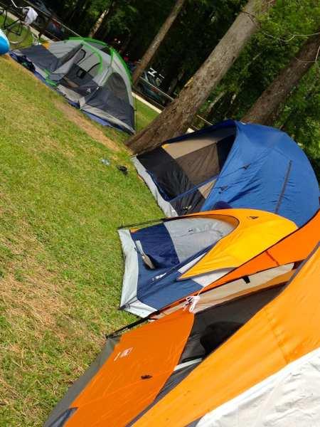 Setting up camp