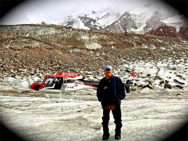 On a glacier outside Denali