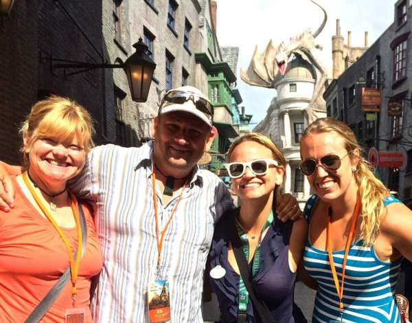 The money shot, just inside Diagon Alley