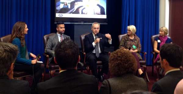 One of the panels at the White House Travel Blogger Summit