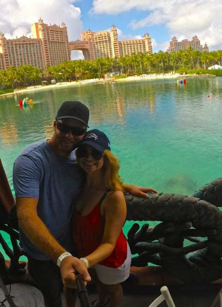 Trying out my new selfie stick with Atlantis Resort in the background. What an enormous place!