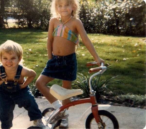 Little brother & I in the front yard at the Hilltop House