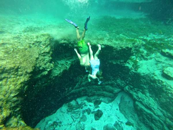 Freediving with my fella at Ginnie Springs