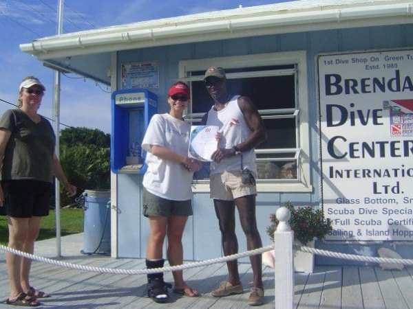 Getting certified to dive with Brendal, circa 2007