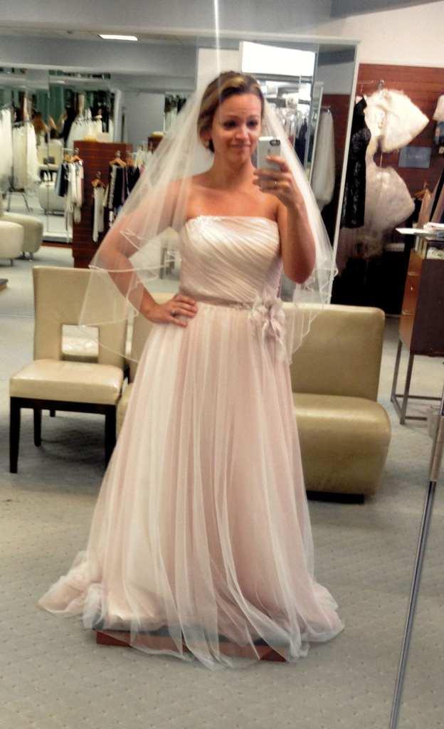 Angie Away Blush Destination Wedding Dress