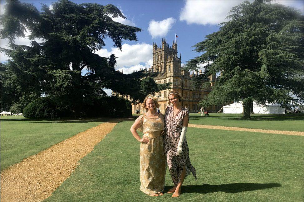 Downton Abbey Highclere Castle Vintage Garden Party