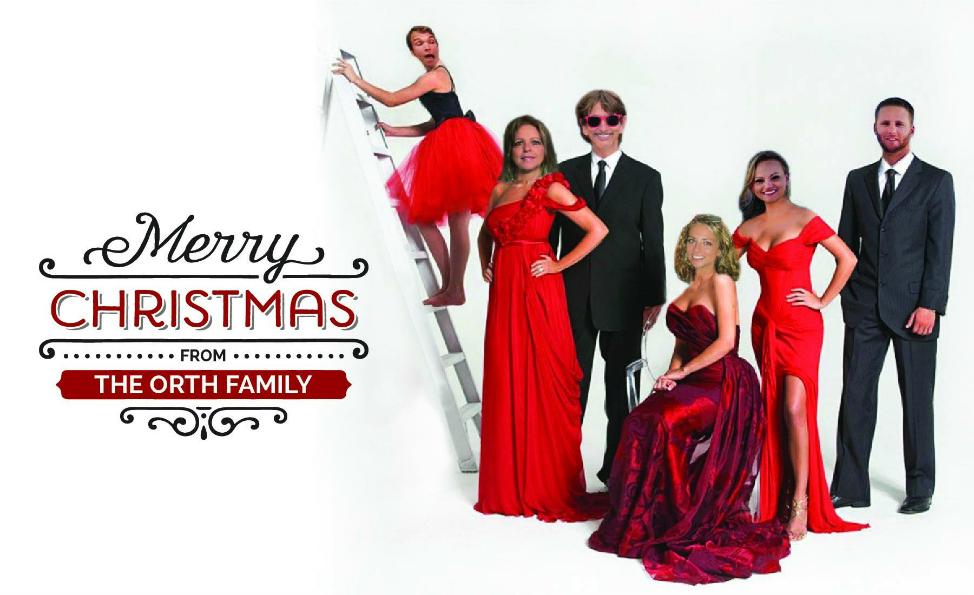 Angie Away Family Christmas Card 2016