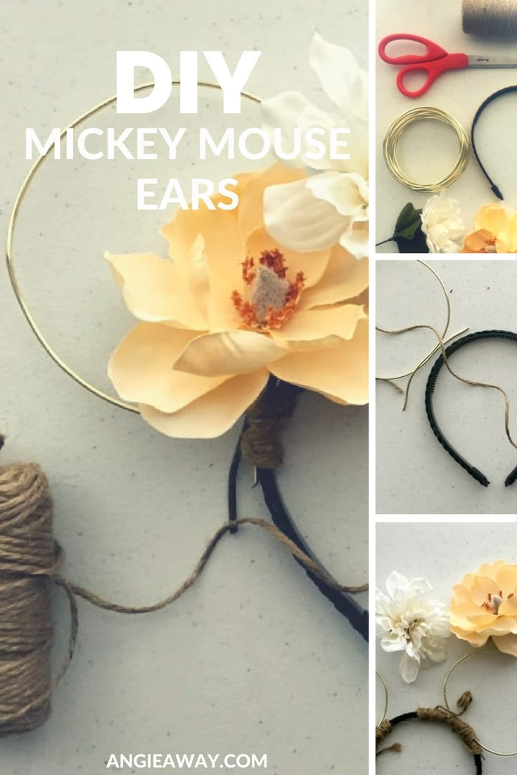 How to make DIY Mickey Mouse ears. Check out this easy template for your very own ears. #DIY #MouseEars #Disney