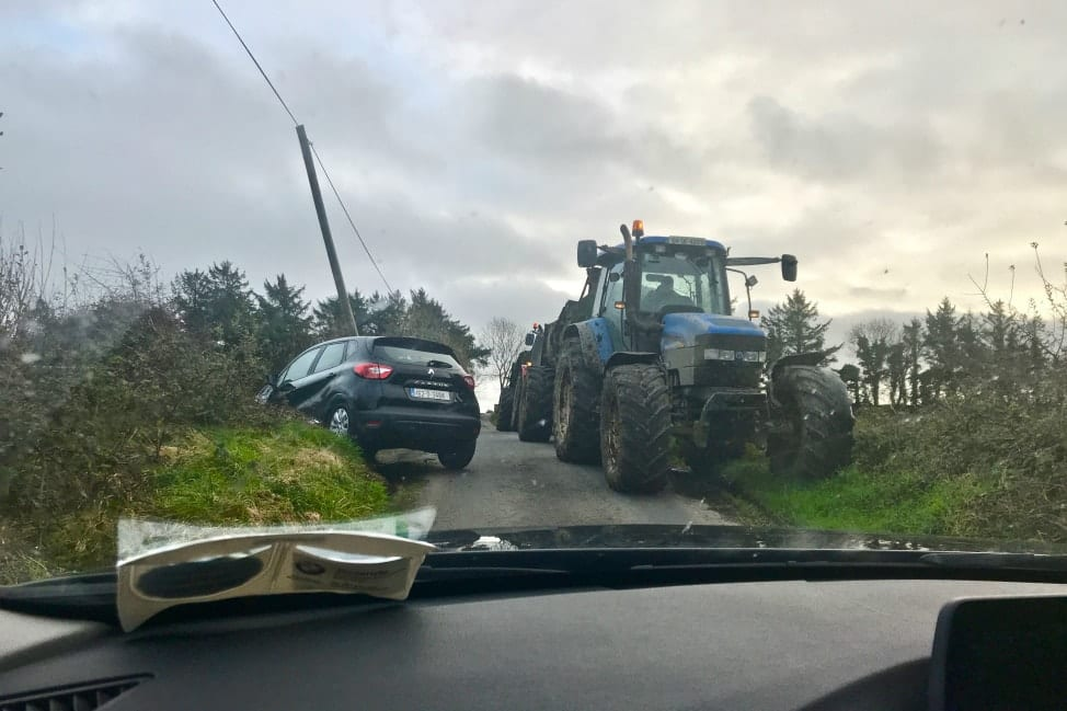 Irish Road Trip - Narrow country roads and tractors