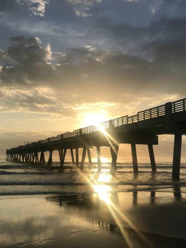 Reflections from the Road - Jacksonville Beach Pier-min