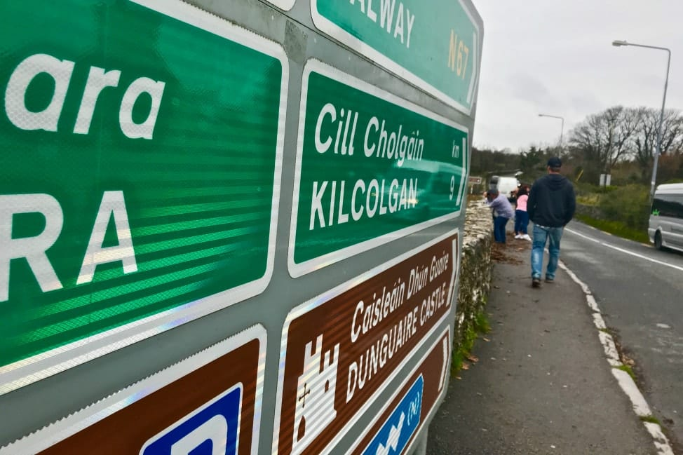 Road signs ireland road trip in Ireland