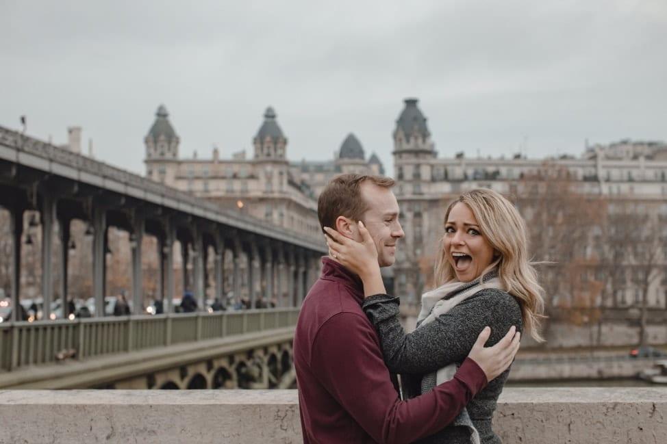 Hiring a surprise proposal photographer in Paris