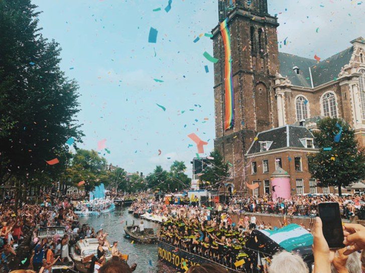Gay Pride à Jordaan, un quartier d'Amsterdam
