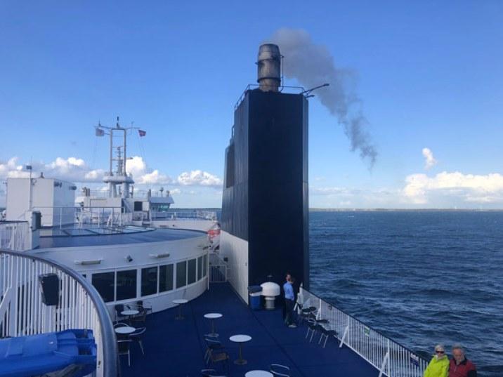 Le ferry qui rejoint l'Allemagne au Danemark
