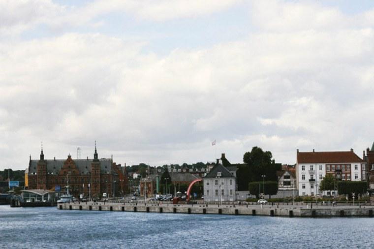 Vue depuis le château de Kronborg sur Helsingor