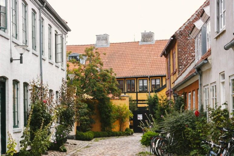 Les maisons colorées de Helsingør