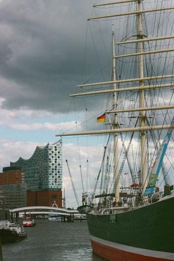Le philharmonie sur les bords de l'Elbe