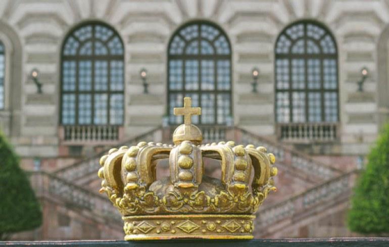 La couronne du Palais Royal de Stockholm