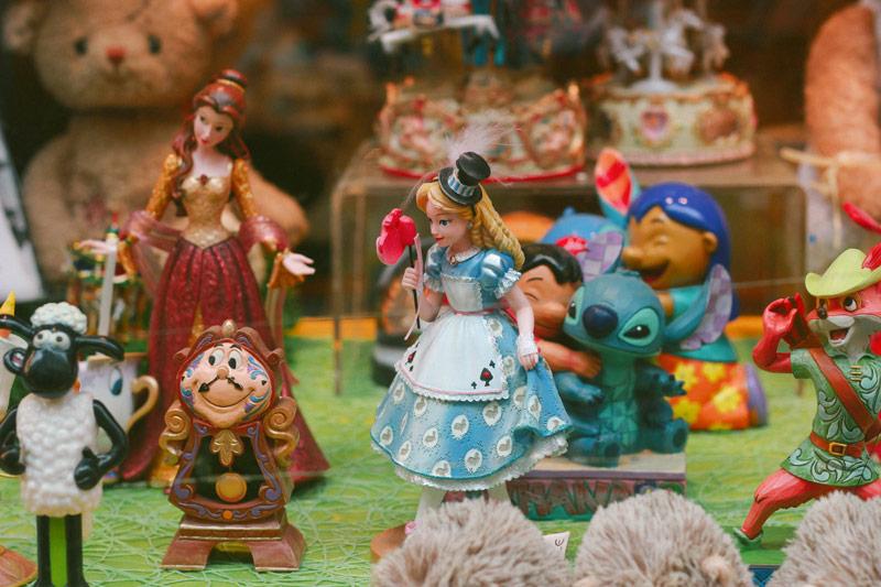 Les figurines disney des Galeries Royales de Bruxelles