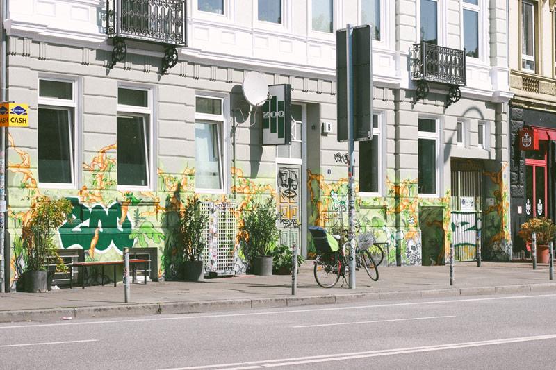 Quartier de Saint Pauli à Hambourg