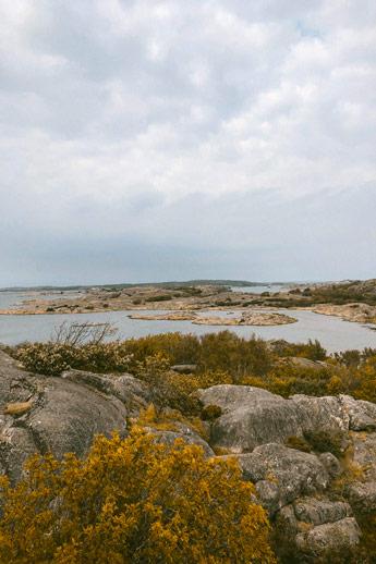 Ile rocheuse de l'archipel de Göteborg
