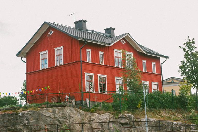 Maison typique suédoise