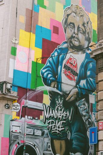 Tag du Manneken Pis à Bruxelles