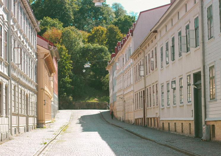 Les ruelles de la vieille ville de Göteborg