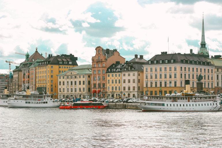 Vue sur Galan Stan depuis Skeppsholmen