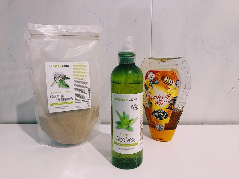 Masque hydratants pour les cheveux bouclés