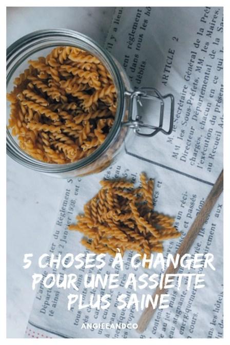 Epingle Pinterest pour mon article sur 5 choses à changer pour une assiette plus saine