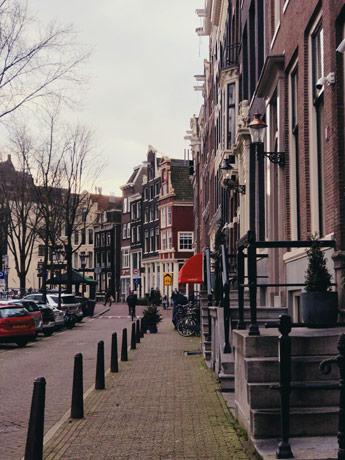 Les rues d'Amsterdam
