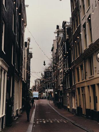 Le quartier des neufs rues à Amsterdam