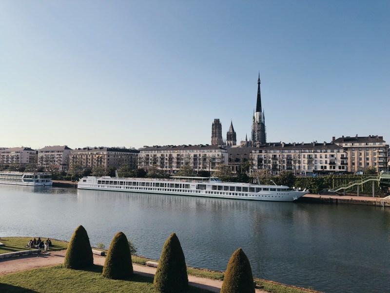 Les quais de Seine à Rouen