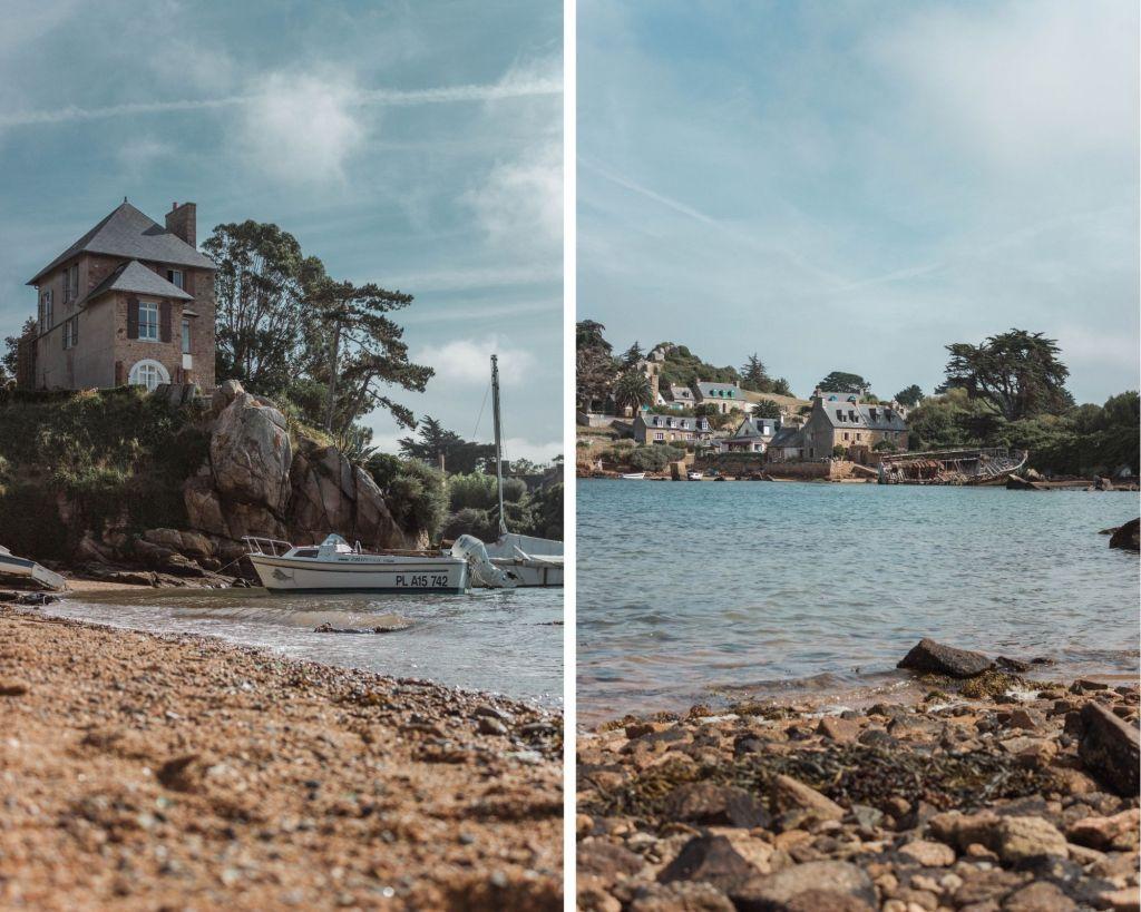 La beauté de l'île de Bréhat dans les côtes d'Armor