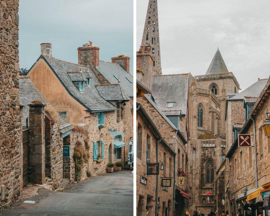 Les ruelles de Tréguier dans les Côtes d'Armor