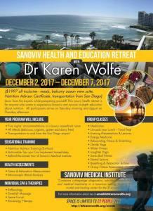 Dr Karen Wolfe Sanoviv Flyer