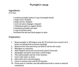 Pumkin Soup Recipe from Sanoviv