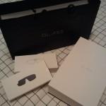 Google gift bag and three boxes