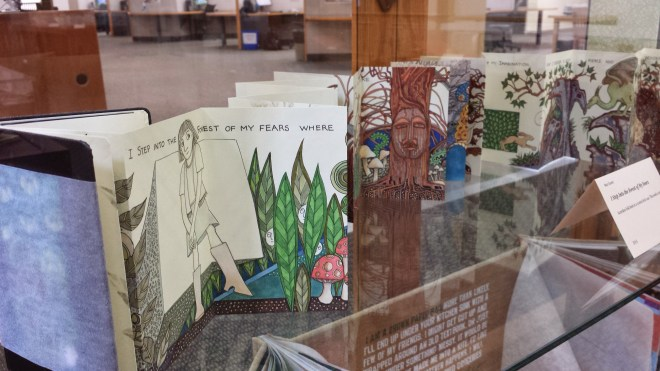 Accordion book: I Walk Into the Forest of my Fears