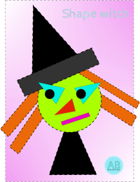 Halloween shape witch craft
