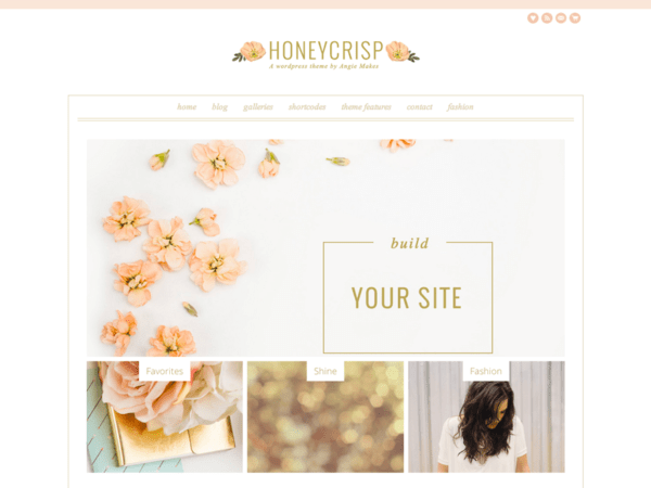 Honeycrisp WordPress Theme by Angie Makes
