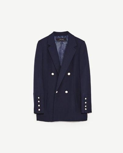 blue zara blazer-zara shopping-blazer
